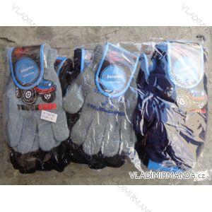 Rukavice pletené prstové dětské chlapecké (3-8 let) SANDER R732FD