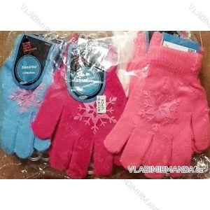 Rukavice pletené prstové dětské dívčí (6-12 let) SANDER R820