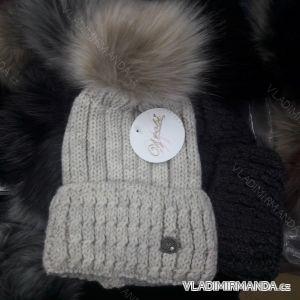 Čepice zimní pletená dámská (uni) WROBI POLSKO PV418244