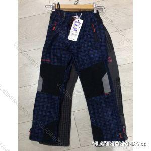 Kalhoty manžestrové zateplené dětské chlapecké(98-128) GRACE MA21881347