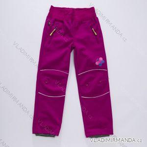 Kalhoty softshell slabé dětské dorost dívčí nepromokavé (116-146) WOLF B2882