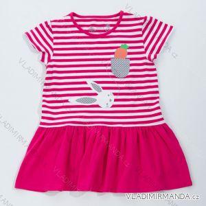 Šaty, tunika s krátkým rukávem letní dětská dívčí (98-128) WOLF S2817