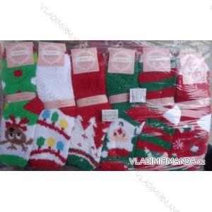 Ponožky teplé dámské vánoční motiv (35-41) EMI ROSS NěMECKO XLF-H5509MC