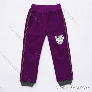 Kalhoty  slabé jarní softshellové kojenecké  dívčí   (92-110) WOLF B2981