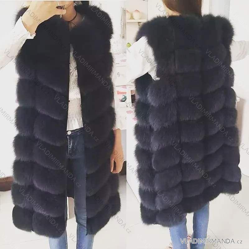 Vesta kožíšek dlouhý zimní dámský teplá umělá kožešina (s-4xl) AFASHION  AF18099 dd7e3f57ed