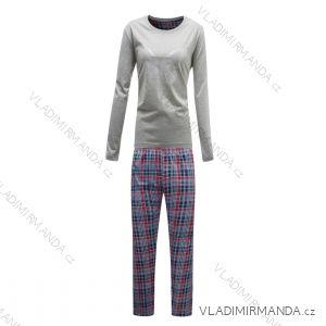 Pyžamo dlouhý rukáv a nohavice dámské (s-2xl) WOLF D2844
