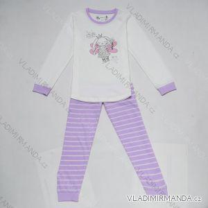 Pyžamo dlouhé nohavice dětské a dorost dívčí (98-128) WOLF S2852B
