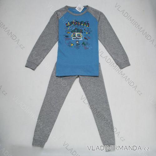 Pyžamo dlouhé nohavice dětské a dorost chlapecké (104-134) WOLF S2855B