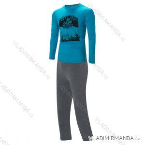 Pyžamo dlouhé nohavice a rukáv dětské a dorost chlapecké (140-170) WOLF S2856B