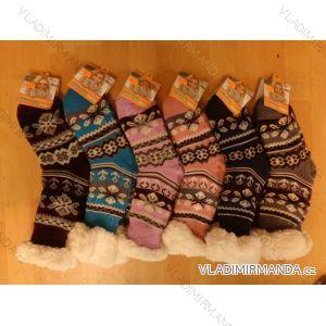 Ponožky zateplené bavlnou protiskluzové dámské (35-42) AMZF PB605