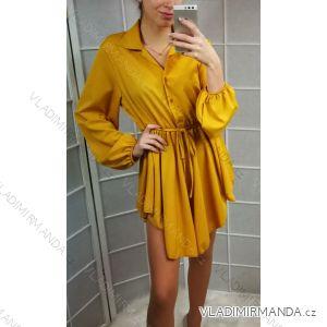 Šaty košilové tenké dlouhý rukáv dámské (uni s-l) ITALSKÁ MÓDA IMT19055