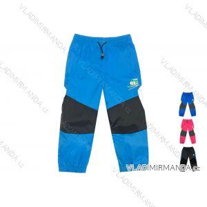 Kalhoty šusťákové bavlněná podšívka kojenecké a dětské dívčí a chlapecké (86-110) KUGO K-701