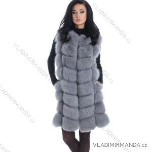 Vesta kožíšek zimní dámský s koženkovými kapsami teplá umělá kožešina  (s-3xl) AFASHION ec9415cba0