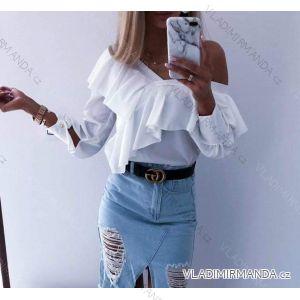 Tunika košilová dlouhý rukáv dámské (uni s-l) ITALSKá MóDA IM919046