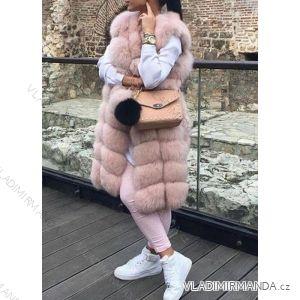 Vesta  kožíšek dlouhý zimní dámský teplá umělá kožešina (s-4xl) AFASHION AF18099
