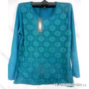 Tričko dlouhý rukáv dámské nadrozměrné (l-3xl) EBELIEVE CM-1803