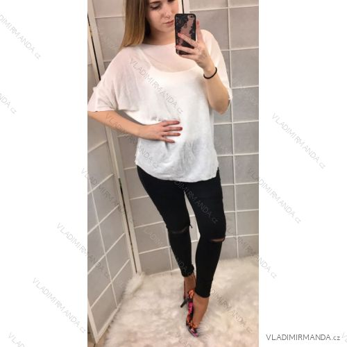 Tričko / tunika netopýří rukáv dámská (uni s-l) ITALSKá MóDA IM419098