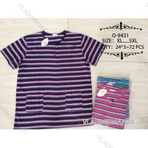 Tričko proužkované krátký rukáv dámské nadrozměrné (xl-5xl) Valerie Dream O-9431