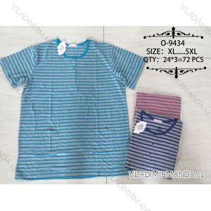 Tričko proužkované krátký rukáv pánské nadrozměrné (xl-5xl) Valerie Dream O-9434