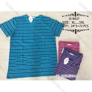 Tričko proužkované krátký rukáv pánské nadrozměrné (xl-5xl) Valerie Dream O-9437