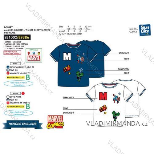 Tričko krátký rukáv avengers dětské dorost chlapecké bavlněné (4-10 let) SUN CITY SE1002