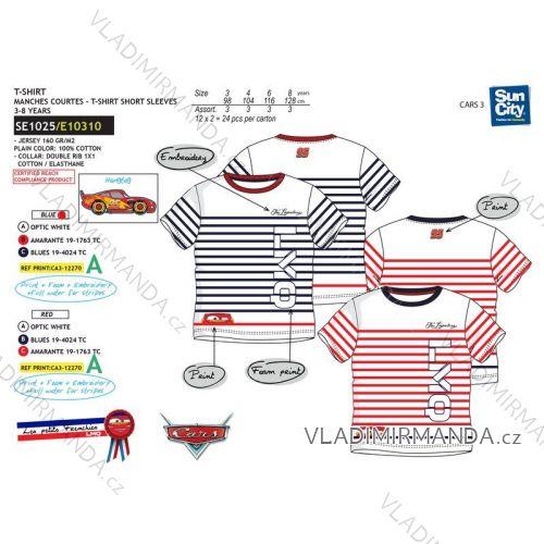 Tričko krátký rukáv cars dětské chlapecké bavlněné (3-8 let) SUN CITY SE1025