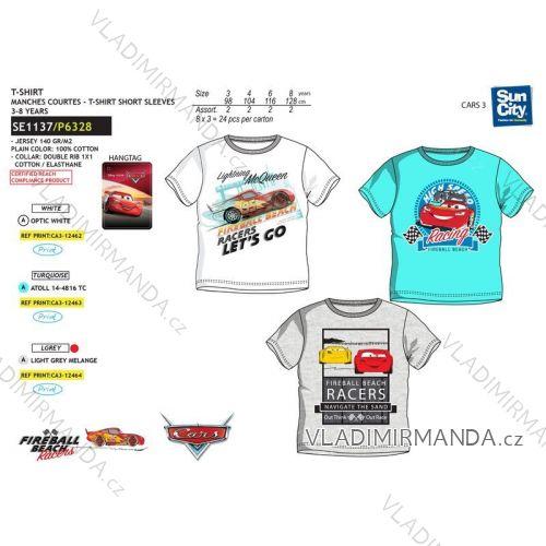 Tričko krátký rukáv cars dětské chlapecké bavlněné (3-8 let) SUN CITY SE1137