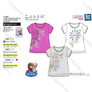 Tričko krátký rukáv frozen ledové království dětské dívčí bavlněné (4-8 let) SUN CITY SE1363