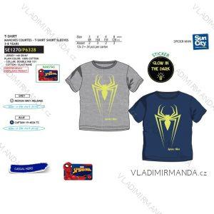 Tričko krátký rukáv spiderman svítící ve tmě fosfor dětské chlapecké bavlněné (3-8 let) SUN CITY SE1270