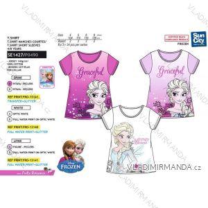 Tričko krátký rukáv frozen ledové království dětské dívčí bavlněné (4-8 let) SUN CITY SE1427