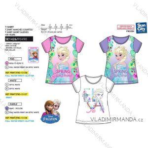Tričko krátký rukáv frozen ledové království dětské dívčí bavlněné (4-8 let) SUN CITY SE1426