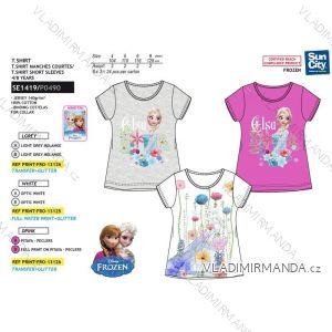 Tričko krátký rukáv frozen ledové království dětské dívčí bavlněné (4-8 let) SUN CITY SE1419