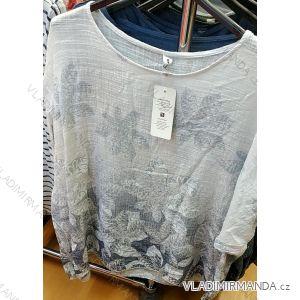 Tričko tunika krátký rukáv dámská (uni xl-3xl) ITALSKá MóDA IM419110