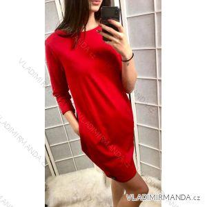 Tunika šaty krátký rukáv dámské (uni s-l) ITALSKá MóDA IMC19174