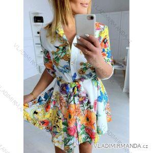 Šaty košilové dlouhý rukáv dámské (uni s-l) ITALSKá MóDA IMT19135