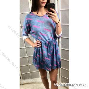 Šaty s dlouhým rukávem dámské (uni s-l) ITALSKÁ MÓDA IM419175
