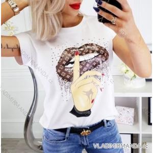 Tričko krátký rukáv dámské (uni s-l) ITALSKÁ MÓDA IM419174