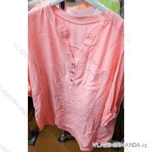 Košile halenka 3/4 dlouhý rukáv dámská (uni xl-3xl) ITALSKá MODA IM419179