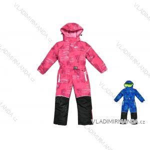 Kombinéza zimní lyžařská šusťáková dětská dorost dívčí a chlapecký (104-140) KUGO B302