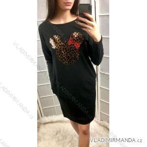 Šaty tenké dámské mouse (uni s-l) ITALSKá MóDA IM419181
