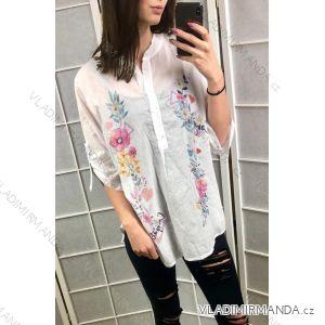 Košile halenka 3/4 dlouhý rukáv dámské (uni s-l) ITALSKá MODA IM419190