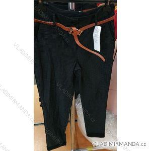 Kalhoty elegantní dámské s páskem (uni s-l) ITALSKá MODA IM419191
