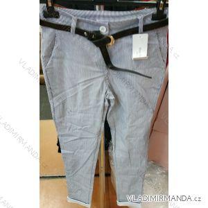 Kalhoty elegantní dámské s páskem (uni s-l) ITALSKá MODA IM419192