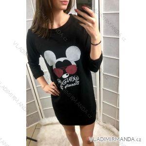 Šaty mouse dlouhý rukáv dámské (uni s-l) ITALSKá MóDA IMT19149