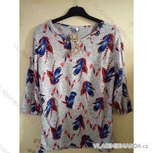 Tričko teplé dlouhý rukáv dámské (l-3xl) LINTEBOB PM305