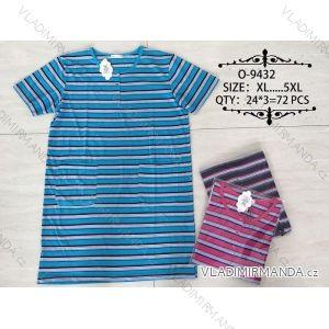 Šaty proužkované krátký rukáv nadrozměrné (xl-5xl) Valerie Dream O-9432