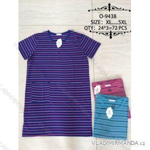 Šaty proužkované krátký rukáv nadrozměrné (xl-5xl) Valerie Dream O-9438