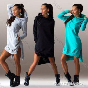 Mikina dlouhá šaty krátké teplákové dlouhý rukáv dámské (s-xl) AFASHION AF18055