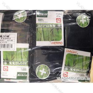 Ponožky teplé thermo zdravotní dámské pánské bambusové (39-46) AURA.VIA FFV002