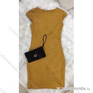 Šaty imitace broušené koženky dámské (uni s-l) ITALSKá MóDA IM9181010